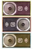 old found speaker poster