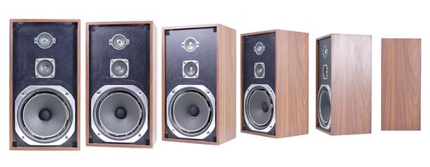 old speaker turning round