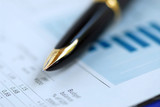 pen finance graph poster