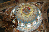 interior of an orthodox church poster