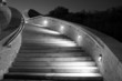 concrete stairs at night