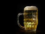 beer mug against black background poster