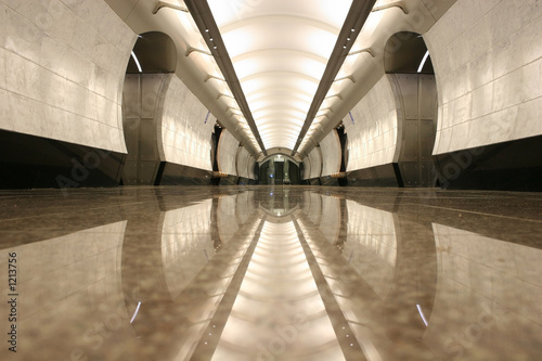 empty subway station floor