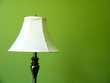 lamp on green wall