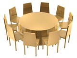 chairs round table poster