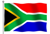flag of south africa waving poster