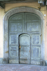 entrance of an old house, lago di como, bellano