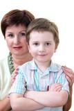 grandma with grandson poster