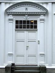 white decorative door