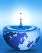 world in water drop