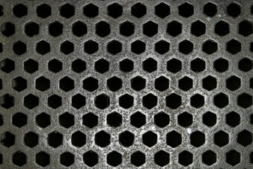 steel grid pattern