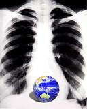 conceptual globe image poster