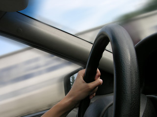 hand on road driving 2