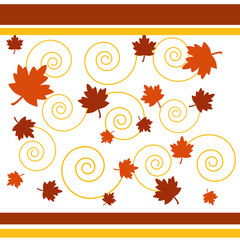 autumn leaves and spirals
