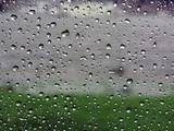 raindrops on vehicle window poster