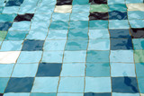 colorful tiles in swimming pool
