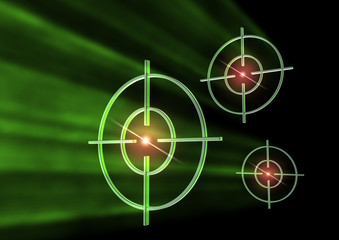 targets in green light