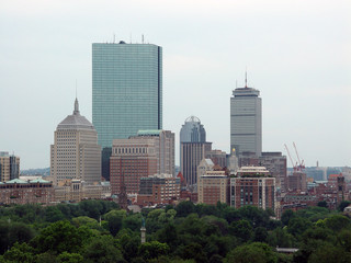 boston skyline from 21 beacon street