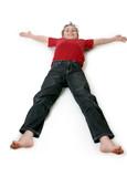 boy lying down poster