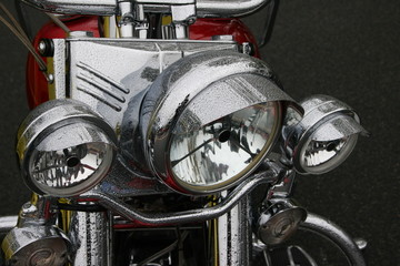 american motorcycle  headlight