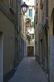 small street in bellano, lago di como poster