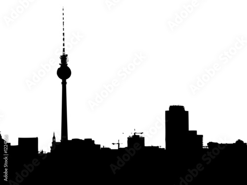 illustration berlin skyline. Black Bedroom Furniture Sets. Home Design Ideas