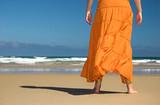 orange skirt poster