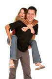 cheerful couple poster