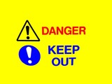 danger sign.keep out sign poster