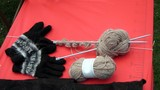 knitting needles.wool poster