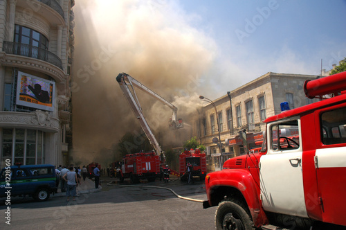 fire in the city center