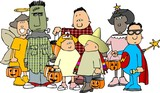 group of halloween kids 1 poster