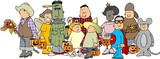 group of halloween kids 2 poster
