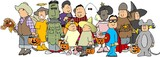 group of halloween kids 3 poster