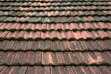 roof coated by rooftiles poster