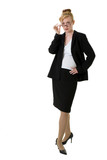 confident business woman with glasses poster
