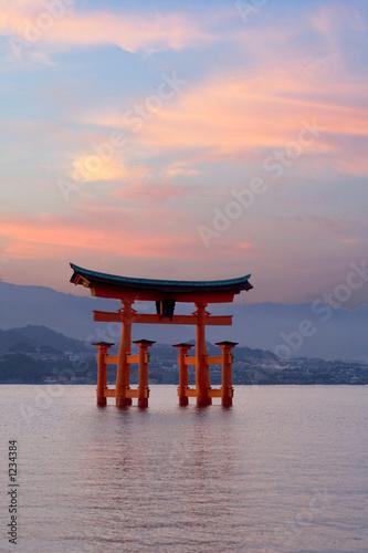 torri gate at sunset