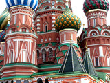 moscow church detail poster