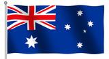 flag of australia waving poster