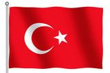 flag of turkey waving poster