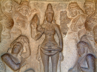mahabalipuram temple bass relief