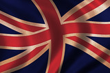 vintage flag of great britain poster