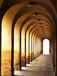 Leinwanddruck Bild - stone archway passage