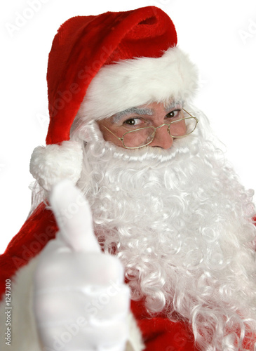 santa claus thumbs up