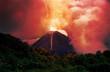 Leinwanddruck Bild - erupting volcano