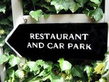 abstract,sign/symbol.restaurant and car park sign poster
