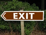 abstract,sign/symbol.exit sign poster