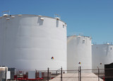 petro-chemical storage tanks poster