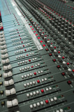 audio mixing board console poster