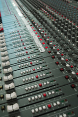 audio mixing board console